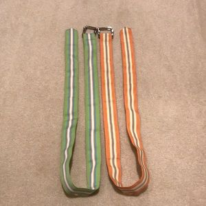 Set of 2 ribbon belts